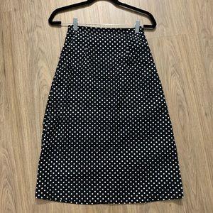 Showpo Black Spot Midi Skirt